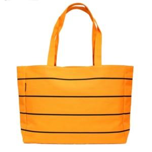 ストライプトートバッグ オレンジ・黒 – STRIPE TOTE ORANGE&BLACK