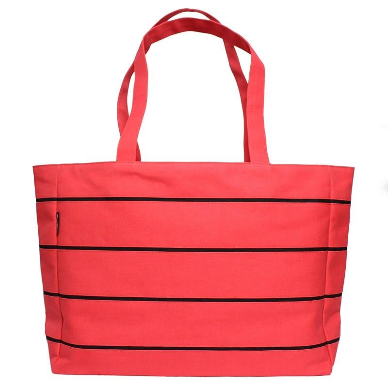 ストライプトートバッグ赤・黒 – STRIPE TOTE RED&BLACK