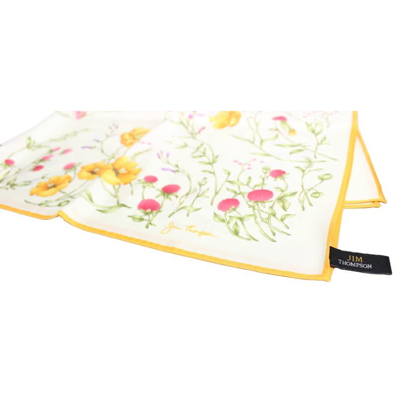 スカーフ 花柄(白) - SCARF FLOWER DESIGN
