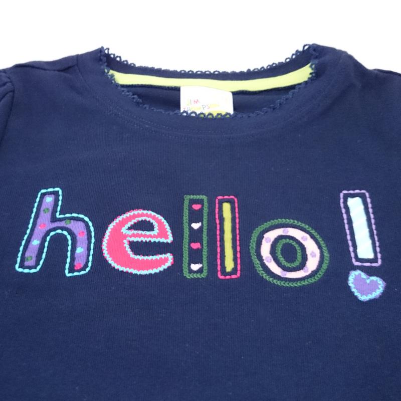 長袖Tシャツ-子供用(紺・ピンク) - LONG T-SHIRT CHILD BLUE&PINK