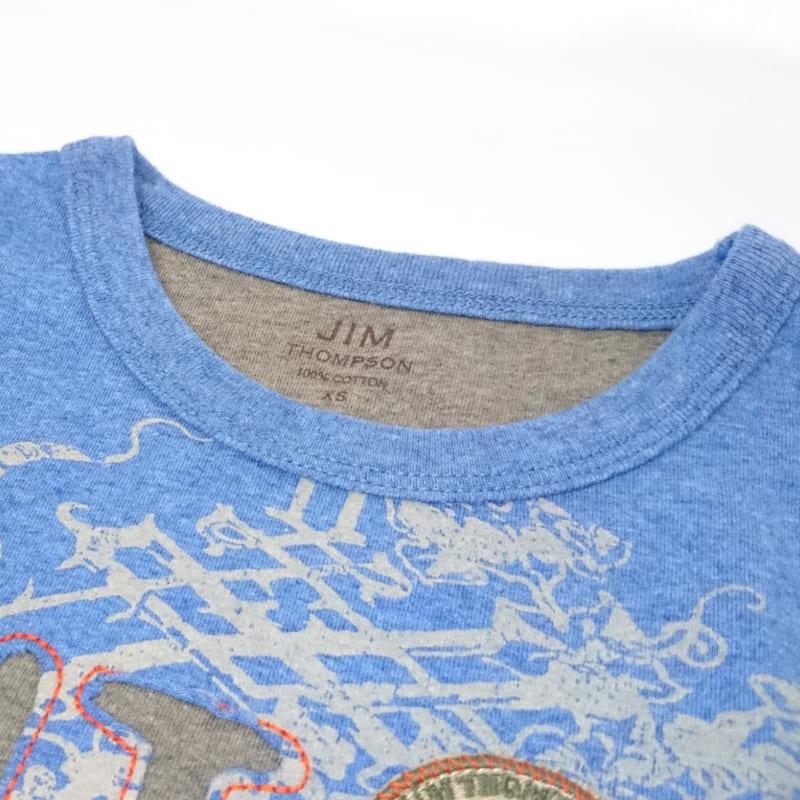 長袖Tシャツ-子供用(青) - LONG T-SHIRT CHILD BLUE