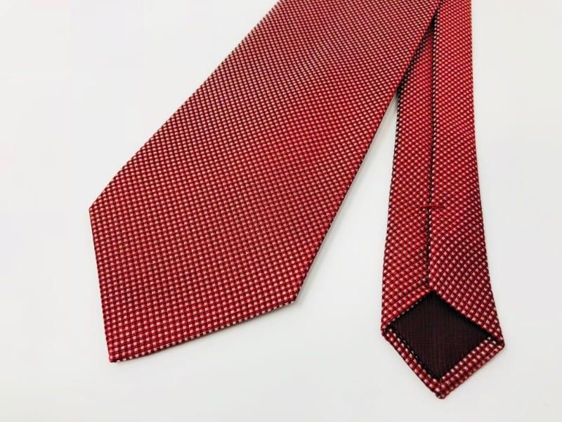 シルクネクタイ(無地・赤)−ジムトンプソン【タイシルク100%】
